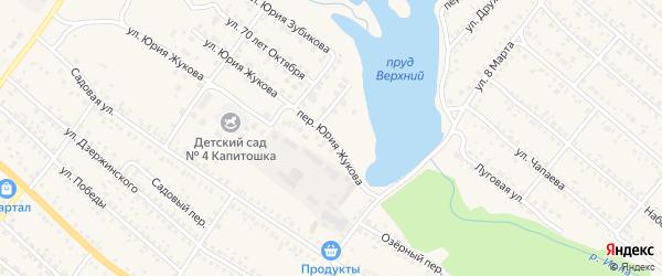Переулок Юрия Жукова на карте поселка Климово с номерами домов