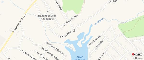 Улица Чехова на карте поселка Климово с номерами домов