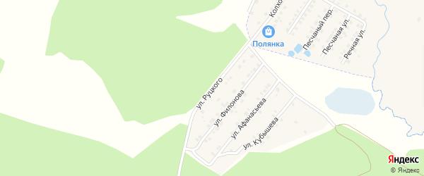 Улица Руцкого на карте села Сачковичей с номерами домов