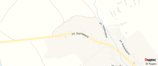 Улица Халаевка на карте Октябрьского села с номерами домов