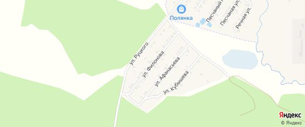 Улица Филонова на карте села Сачковичей с номерами домов