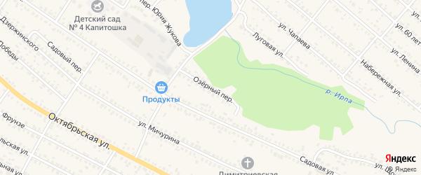 Озерный переулок на карте поселка Климово с номерами домов
