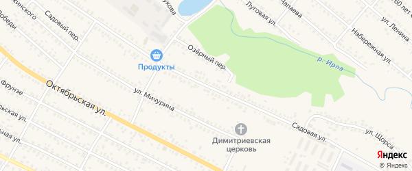 Садовая улица на карте поселка Ново-Сергеевки с номерами домов
