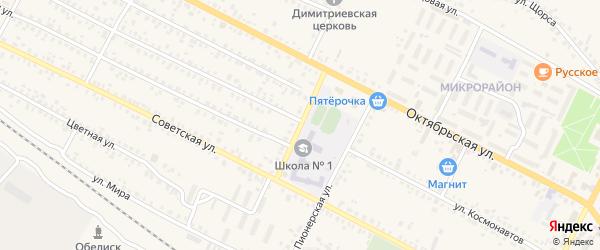 Школьный переулок на карте поселка Климово с номерами домов