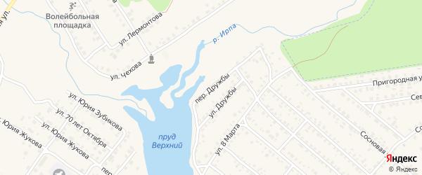 Переулок Дружбы на карте поселка Климово с номерами домов