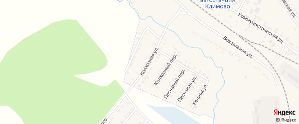 Колхозная улица на карте поселка Климово с номерами домов