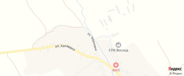 Улица Тереховка на карте Октябрьского села с номерами домов