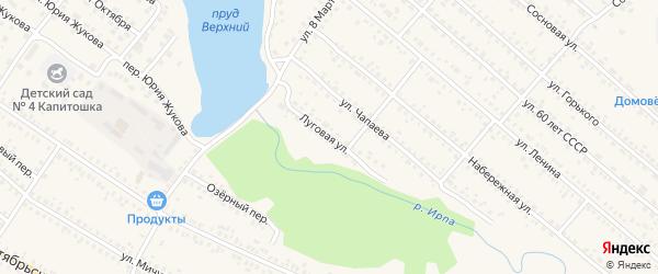 Луговая улица на карте поселка Климово с номерами домов