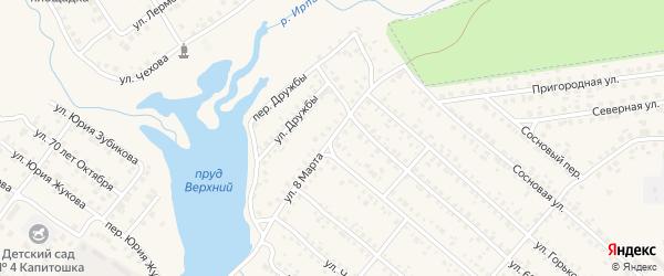 Улица 8 Марта на карте поселка Климово с номерами домов