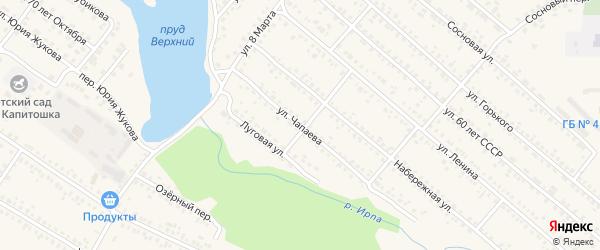 Улица Чапаева на карте поселка Климово с номерами домов