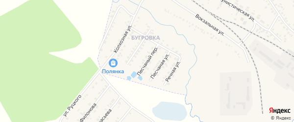 Песчаный переулок на карте поселка Климово с номерами домов
