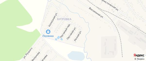 Песчаная улица на карте поселка Климово с номерами домов