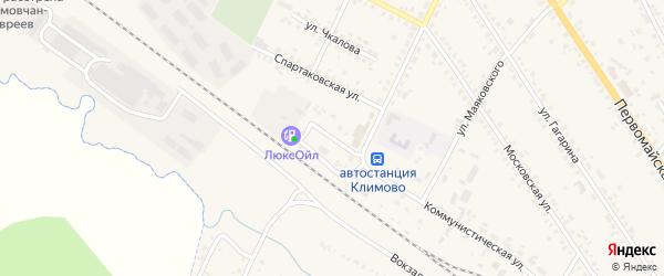 Железнодорожная улица на карте поселка Климово с номерами домов