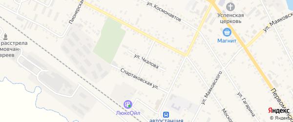 Улица Чкалова на карте поселка Климово с номерами домов