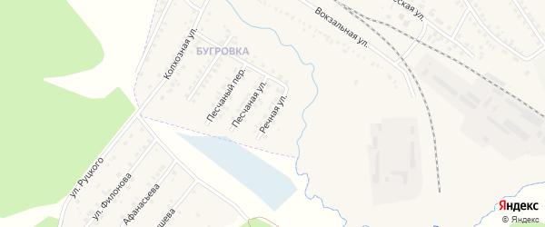 Речная улица на карте поселка Климово с номерами домов