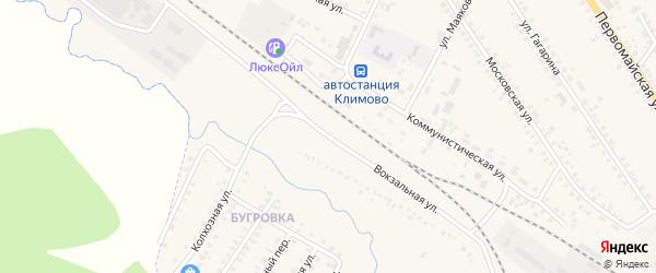 Вокзальная улица на карте поселка Климово с номерами домов