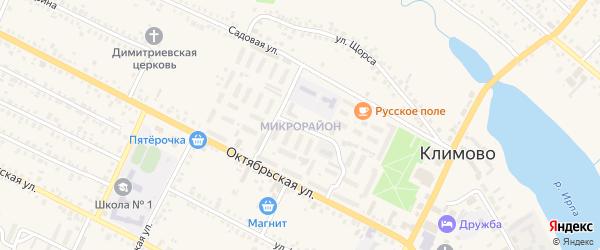 Квартал Микрорайон на карте поселка Климово с номерами домов