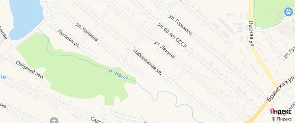 Набережная улица на карте поселка Климово с номерами домов