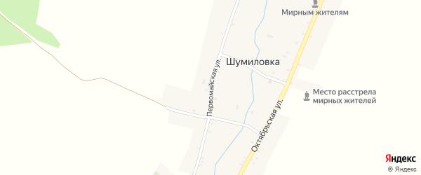 Первомайская улица на карте села Шумиловки с номерами домов