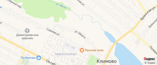 Улица Щорса на карте поселка Климово с номерами домов