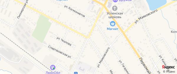 Коммунистическая улица на карте поселка Климово с номерами домов