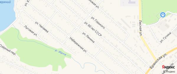 Улица Ленина на карте поселка Климово с номерами домов