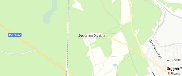 Карта поселка Филатова Хутора в Брянской области с улицами и номерами домов