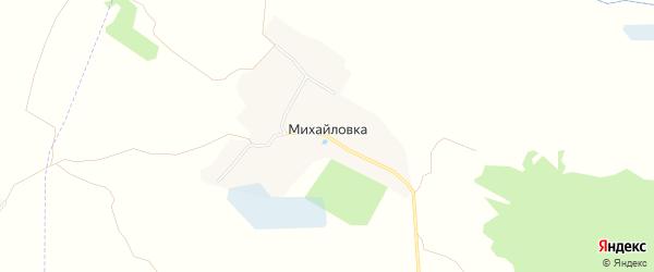 Карта деревни Михайловки в Брянской области с улицами и номерами домов
