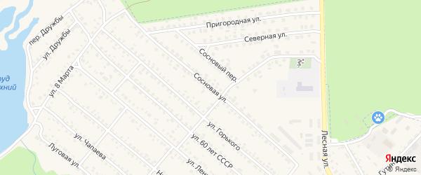 Сосновая улица на карте поселка Климово с номерами домов