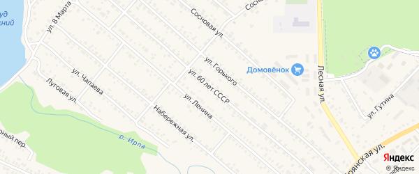 Улица 60 лет СССР на карте поселка Климово с номерами домов