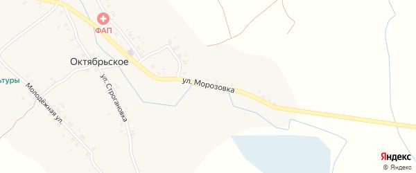 Улица Морозовка на карте Октябрьского села с номерами домов
