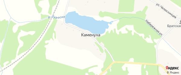 Озерная улица на карте поселка Каменухи с номерами домов