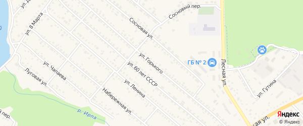 Улица Горького на карте поселка Климово с номерами домов