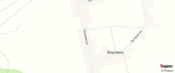 Полевая улица на карте поселка Боровки с номерами домов
