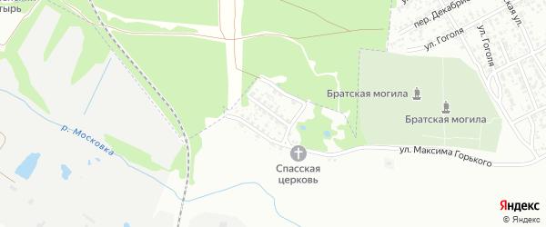 Переулок Максима Горького на карте Клинцов с номерами домов