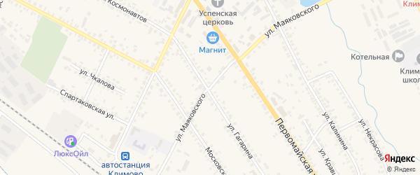Улица Маяковского на карте поселка Климово с номерами домов