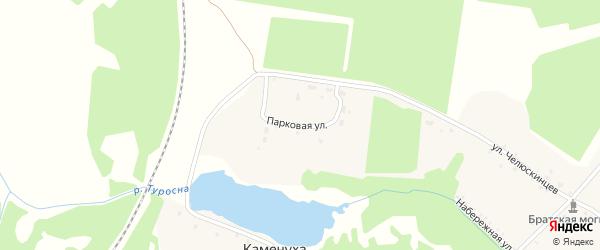 Парковая улица на карте села Туросны с номерами домов