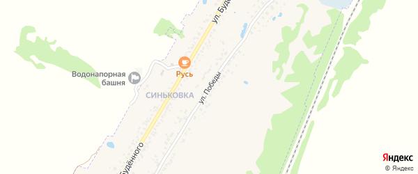Улица Победы на карте села Займища с номерами домов