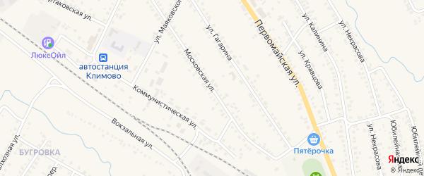 Московская улица на карте поселка Климово с номерами домов