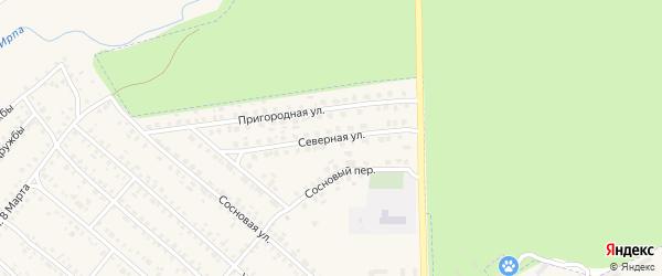 Северная улица на карте поселка Климово с номерами домов