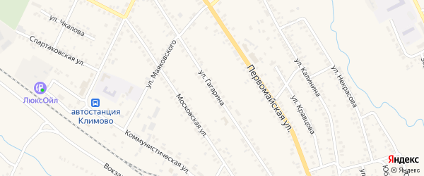 Улица Гагарина на карте поселка Климово с номерами домов