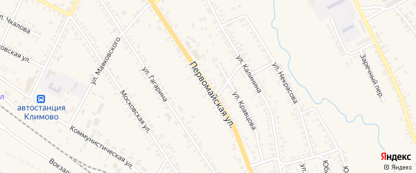 Первомайская улица на карте поселка Климово с номерами домов