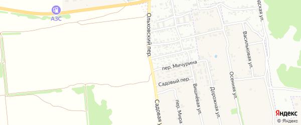 Садовая улица на карте поселка Первое Маи с номерами домов