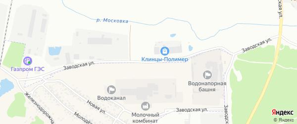Заводская улица на карте Клинцов с номерами домов