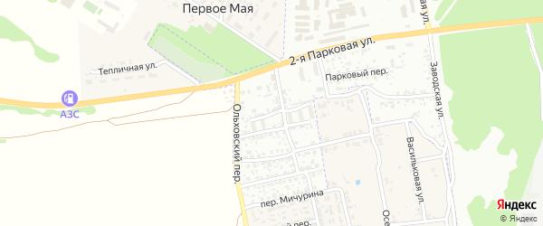 Ущерпский переулок на карте Клинцов с номерами домов
