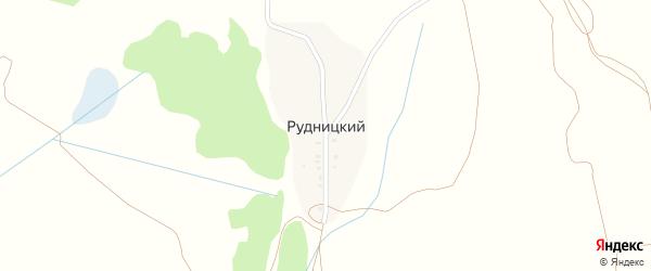 Зеленая улица на карте Рудницкого поселка с номерами домов
