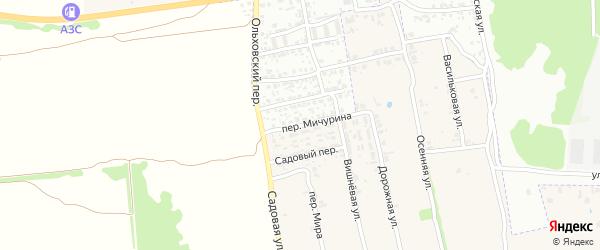 Переулок Мичурина на карте Клинцов с номерами домов