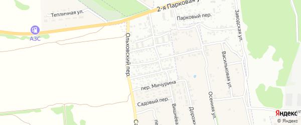 Ущерпская улица на карте Клинцов с номерами домов