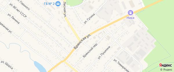 Брянская улица на карте поселка Климово с номерами домов