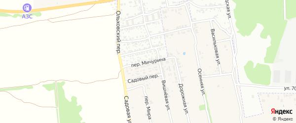 Переулок Мичурина на карте поселка Первое Маи с номерами домов